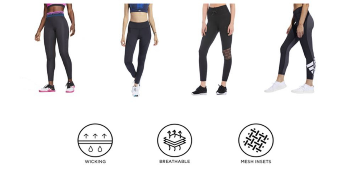 Features of gym leggings