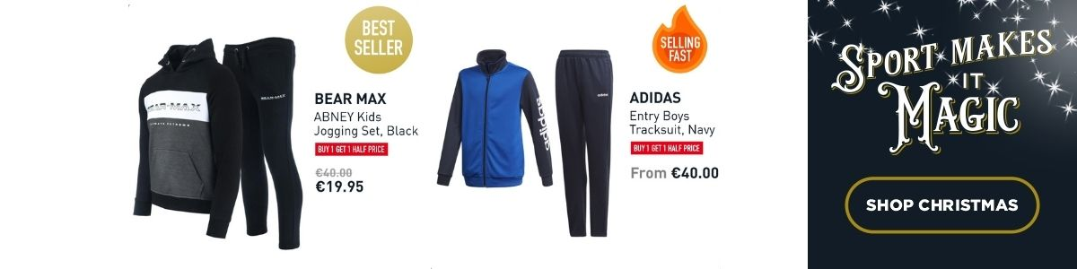2 PRODUCT IMAGES - TRACKSUITS NIKE AND BEAR MAX - SHOP CHRISTMAS