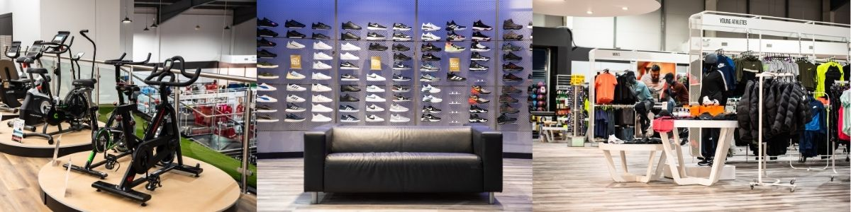 In-store lifestyle photos - home gym - footwear - clothing